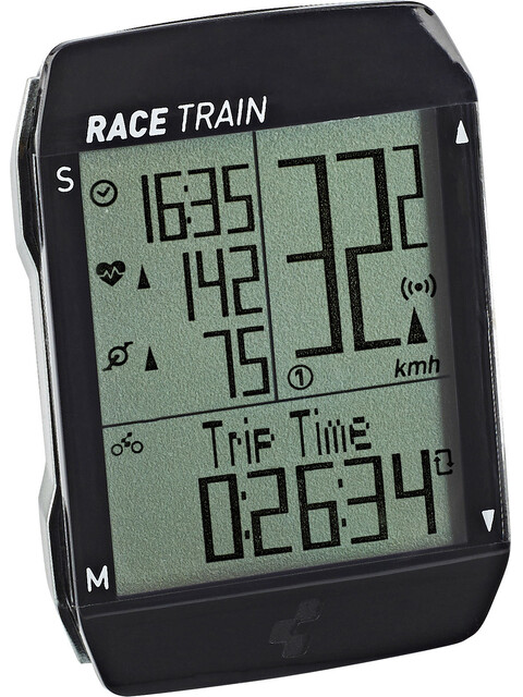Cube Race Train Fahrradcomputer black'n'anthracite metallic